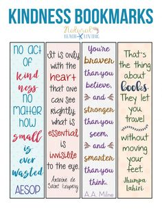 Free Printable Bookmarks, Bookmark Template, Free Printables, Kindness Projects, Kindness Activities, Kindness Ideas, Primary Activities, Classroom Activities, Classroom Ideas