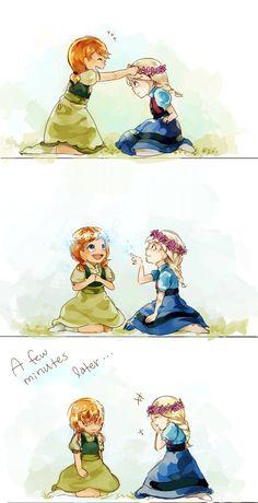 Anna and Elsa by GumiTheAlien on deviantART XD Awww!!!!! <3