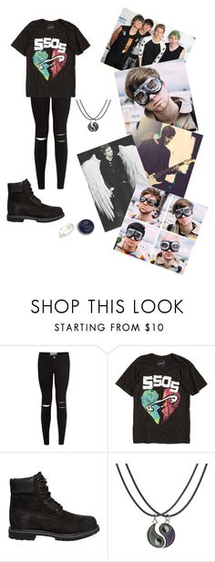 """""""#5sos 🤘🏻 #lukehemmings 💕 #fashion 💅🏻 #women 👸"""" by dana12345 ❤ liked on Polyvore featuring New Look, Hot Topic, Timberland, 5sos, women and polyvorefashion"""