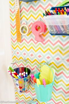 How to create a Back to school peg board organization wall w/ National Hardware