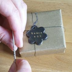 ArtMind: How to use a metal letter stamp set with clay?