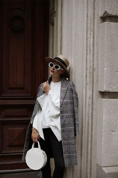 Black and white tweed coat: River Island. White mules: River Island. Black cropped jeans: River Island. Hat: Gucci. Bag: Clare V. You can get 20% all the River Island items I am wearing and all...Read More