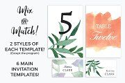 Chic Watercolour Wedding Collection - Invitations - 8