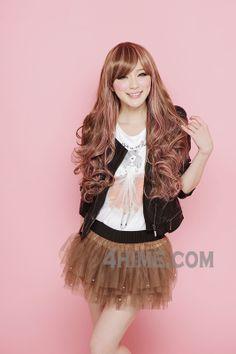 Gyaru hairstyles, 2 tone wavy wig, gyaru wigs, Japanese hairstyles