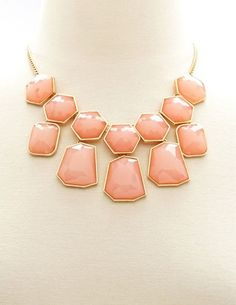 Faceted Bead Statement Necklace: Charlotte Russe