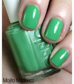 "essie ""mojito madness"" nail polish."