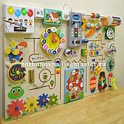 Educational Module Baseband Board Of - buy or order in an online shop on Livemaster - GBJPFCOM. Diy Sensory Board, Sensory Wall, Baby Sensory, Infant Activities, Activities For Kids, Crafts For Kids, Toddler Toys, Kids Toys, Busy Board Baby