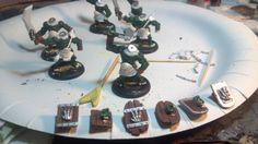 Hand Painted Miniature WIP; 6 Reaper Bull Orcs