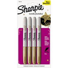 Sharpie Metallic Permanent Markers, Gold, 4-Pack