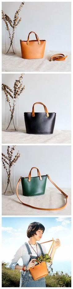 Handmade Women's Fashion Leather Handbag Crossbody Bag Small Satchel 15020