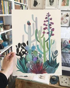 """I finally made prints of the Saguaro watercolor. 12""""x16"""" prints are nos available in my shop. Link to shop in my profile Por fin hice…"""