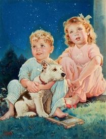 Frances Tipton Hunter, A Starry Night, advertising illustration for Hoover Company