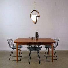 Striking sculptural pendant lamp, circa 1960's. Classic mid century Danish Modern styling.