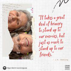 #brave #friendships #courage #gordonmodel #gordontraining Good Parenting, Relationship Tips, Stand Up, Brave, Leadership, Bring It On, Training, Hacks, Children