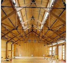 wood and steel rod trusses - Google Search