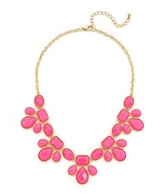 Pink Flourish Necklace - Gold and Pink @ ShopLately