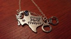 Hand stamped personalized Texas could use by ByalittlebitofFaith