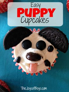 Easy Puppy Cupcakes for Kids: