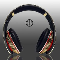 Dr Dre's Beats Studio Headphones Swarovski Glamour series dazzle with golden crystals