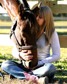 a girl and her horse... its a beautiful thing
