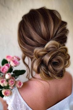 36 Timeless Classical Wedding Hairstyles ❤️ classical wedding hairstyles low flower shaped updo with samirasjewelry #weddingforward #wedding #bride #weddinghair #classicalweddinghairstyles