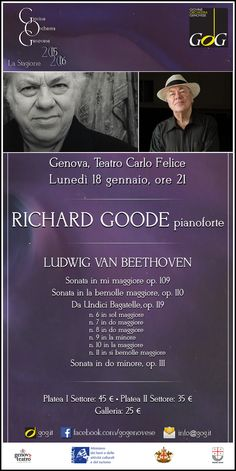 Richard Goode, Lunedì 18 gennaio 2016, Genova, Teatro Carlo Felice #Genova #gog1516