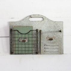 Metal 2 Pocket Wall Organizer
