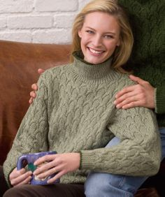 Her Cabled Pullover- free pattern