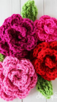 Crochet Crafts, Crochet Yarn, Crochet Stitches, Crochet Projects, Free Crochet, Sewing Crafts, Crochet Flower Patterns, Crochet Designs, Crochet Flowers