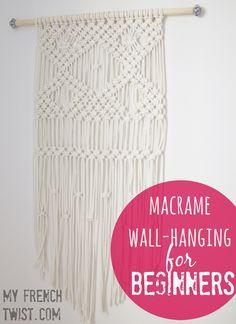 macrame wallhanging - myfrenchtwist.com