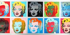 Pop art painting andy warhol marilyn monroe Ideas for 2019 Andy Warhol Marilyn, Art Andy Warhol, Andy Warhol Prints, Warhol Paintings, Marilyn Monroe, Tableau Pop Art, Poster Prints, Art Prints, Expo