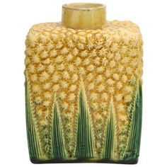 A Rare Whieldon School Pottery Pineapple Tea Caddy | From a unique collection of antique and modern pottery at https://www.1stdibs.com/furniture/dining-entertaining/pottery/