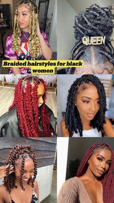 Quick Braided Hairstyles, Box Braids Hairstyles For Black Women, Braids Hairstyles Pictures, Braids For Short Hair, African Braids Hairstyles, Twist Hairstyles, Protective Hairstyles, Protective Style Braids, Beach Hairstyles