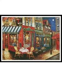 Midnight Rendezvous: A Cross Stitch Chart by Artecy Cross Stitch Cross Stitch Patterns, Knitting Patterns, Fox Collection, Craft Items, Cross Stitching, Needlepoint, Sewing Crafts, Needlework, Embroidery