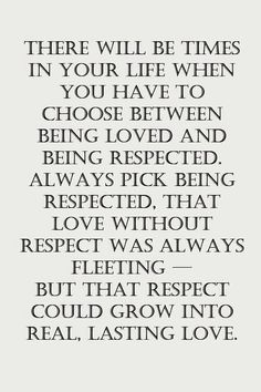 Where is a space for lies, cheating, dishonest is NO RESPECT. Where there is no respect, there is NO love.