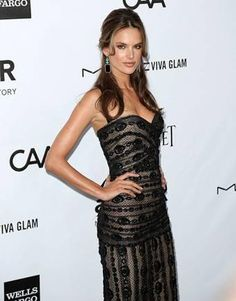 Uzo created Alessandra Ambrosio's makeup look for the 2012 amFAR Gala Los Angeles. Products used included Orgasm Blush & Illuminator, Savage Cream Eyeshadow, and Via Veneto Larger Than Life Long-Wear Eyeliner.