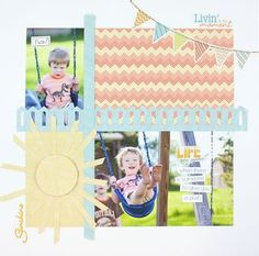 Life Is Good Summer Additions Scrapbooking Layout from Creative Memories  http://www.creativememories.com
