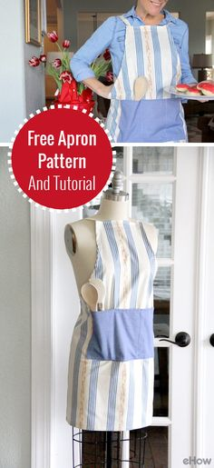 A DIY apron makes a great gift for any occasion (Mother's Day and Father's Day too!) Using your favorite fabrics and patterns, follow this tutorial with step-by-step images and a FREE printable pattern to show you to make this yourself: http://www.ehow.com/how_16354_make-apron.html?utm_source=pinterest.com&utm_medium=referral&utm_content=freestyle&utm_campaign=fanpage