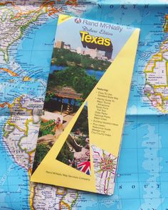1989 Deluxe Map of Texas  State and Natl Parks Forts by BunnysLuck, $7.99