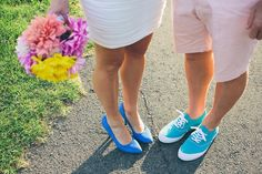 shoes: Colourful End of Summer DIY Wedding: Brad & Christie