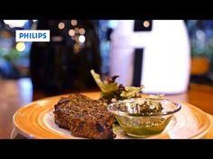 Philips Airfryer Recipe - Herb-Rubbed Angus Ribeye Steak with Basil Pesto - YouTube