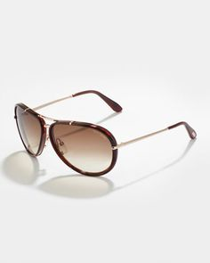 53b7eaf0f337a Cyrille Men  s Aviator Sunglasses, Brown by Tom Ford at Neiman Marcus.