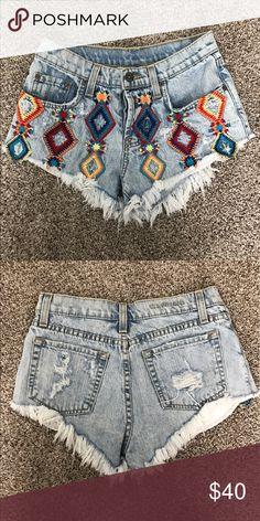 LF CARMAR Denim Shorts New in perfect condition! Size 26 Carmar Shorts Jean Shorts