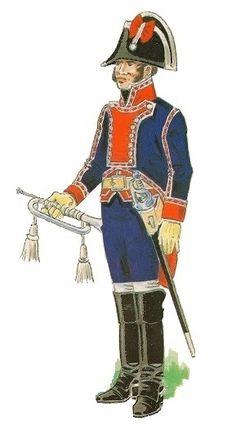Spanish;Guardias de Corps, Americana Company, Trumpeter, 1805