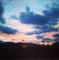Morning sunrise in Denmark