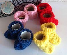 Tutoriel facile patron pour tricoter des chaussons bébé taille naissance