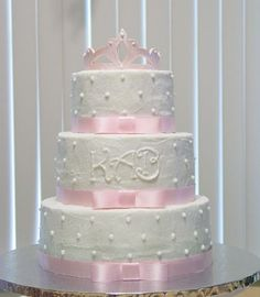 Ribbons And Pearls Baby Shower Cakes | ... Pearl Luster Dust. Frosted In