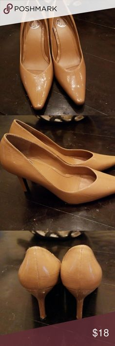 """💋3/$24💋DONNA LAWRENCE GAMBLER """"DL"""" NUDE HEELS Excellent condition.   💋3 for $24💋 BUNDLE any 3 items (listed 3 for $24), IGNORE the bundle price & OFFER $24 🌺See mannequin listing for size reference.   Also CHECK OUT my 🦄3 for $15🦄, ⚘3 for $50⚘ & ♥️10 for $10♥️ sale!  Why SHOP MY Closet? 💋Smoke/ Pet Free 💋OVER 1000 🌟🌟🌟🌟🌟RATINGS 💋POSH AMBASSADOR &TOP 10% Seller  💋TOP RATED 💋 FAST SHIPPER  💋BUNDLES DISCOUNT 💋EARN VIP DOLLARS W/ EVERY PURCHASE ❤HAPPY POSHING!!! 💕 donna…"""
