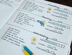 modele simple de planner à organiser soi-meme avec de l info sur la météo, agenda scolaire
