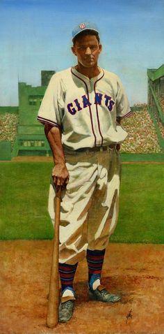 Mel Ott, NY Giants by Bruce Stark.:
